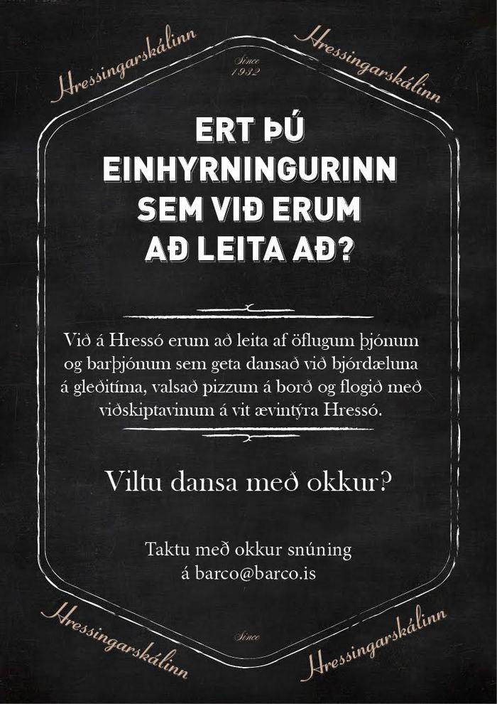 Barþjónn og þjónn óskast
