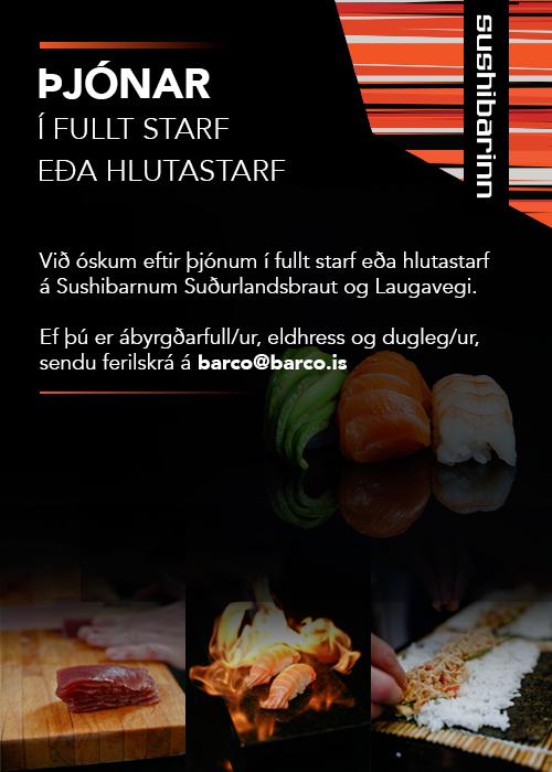 Þjónar óskast