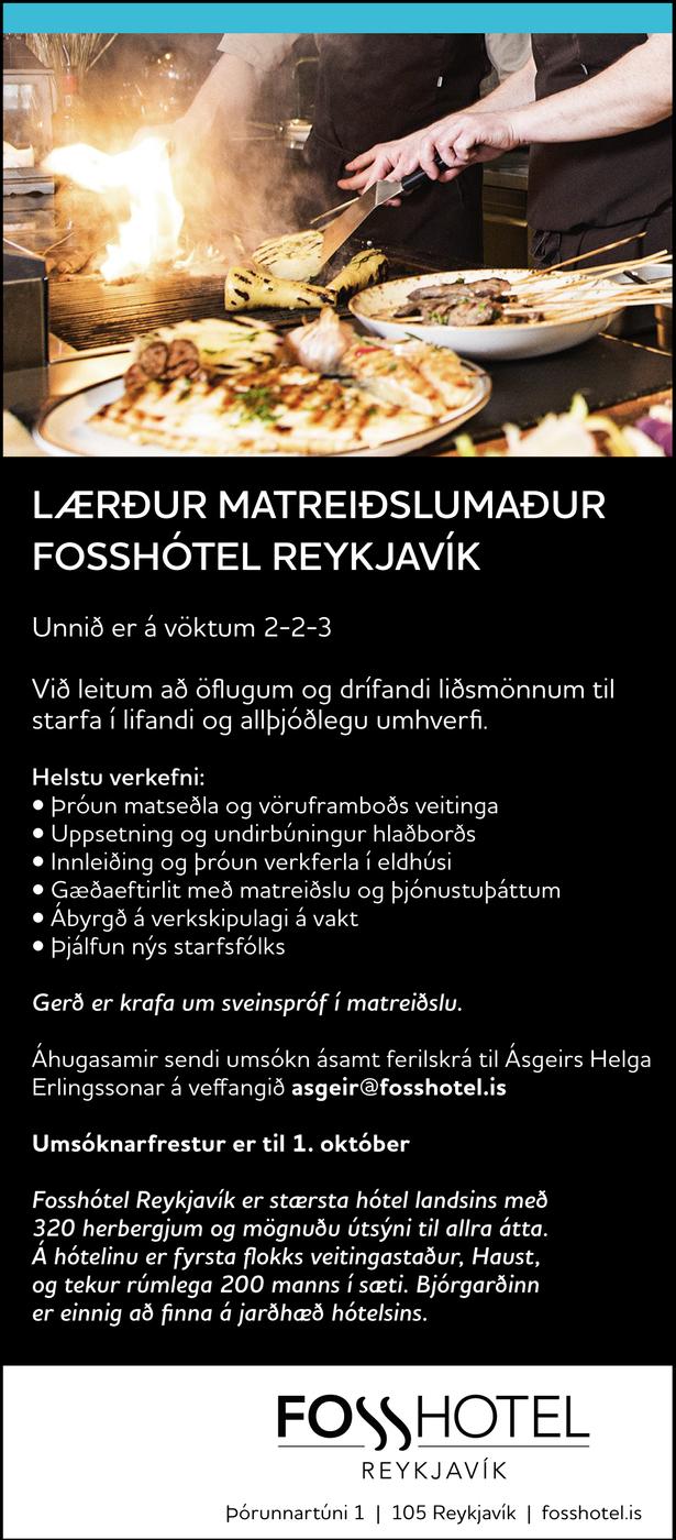 Fosshótel Reykjavík