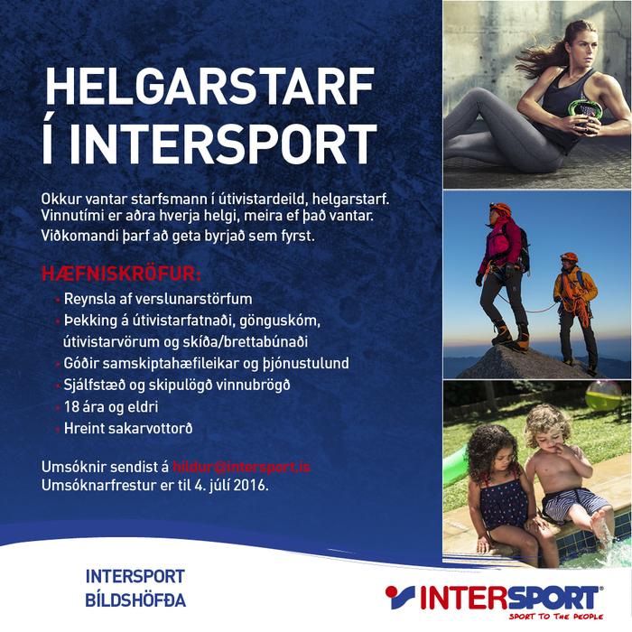 Hlutastarf í verslun Intersport Bíldshöfða
