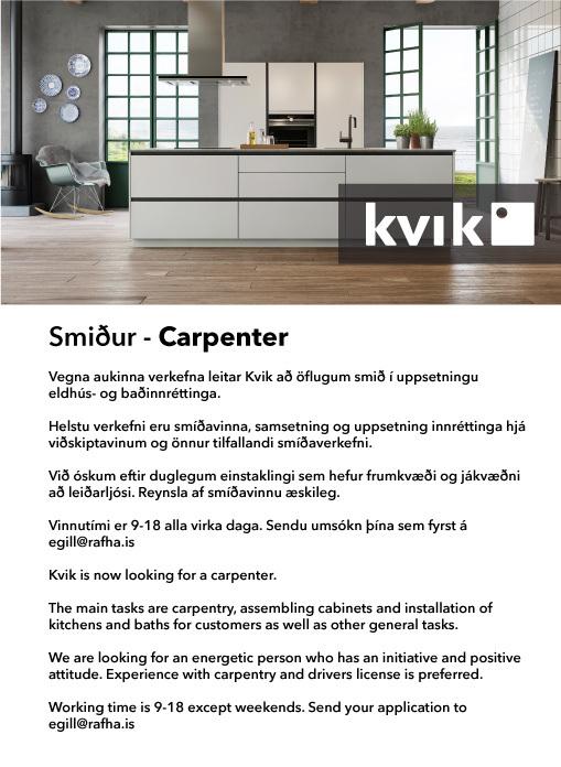 Smiður - Carpenter
