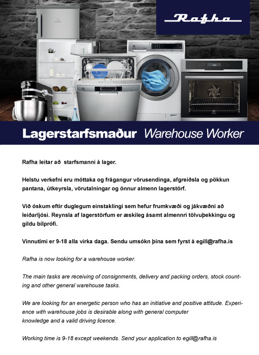 Lagerstarfsmaður - Warehouse Worker