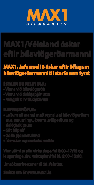 Bílaviðgerðarmaður óskast